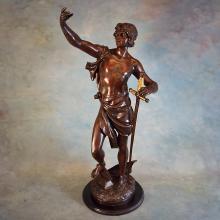 Spelter Figure by Emile Bruchon