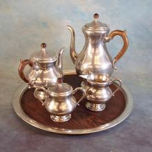 Pewter Coffee Set by Royal Holland