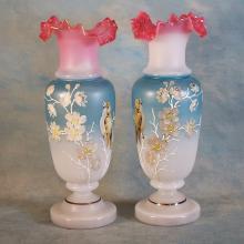 Satin Glass Vases