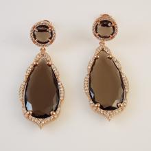 Rose Gold over Sterling Silver Earrings