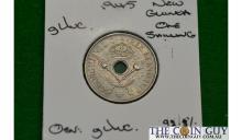 1945 New Guinea 1 Shilling George Vi G/UNC 92.5 % Silver