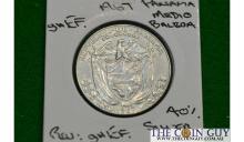 1967 Panama 1/2 Balboa GH/EF 40 % Silver