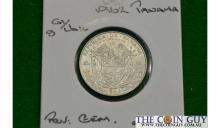 1962 Panama 1/4 Balboa G/CH UNC 90 % Silver