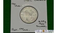 1962 Panama 1/4 Balboa CH/UNC 90 % Silver