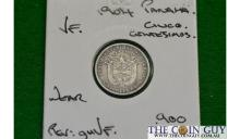 1904 Panama 1/4 Balboa VF 90 % Silver