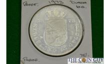 1973 Netherlands 10 Gulden 25Tgh An Reigh PROOF 72 % Silver