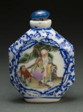 Chinese Porcelain Longevity Man Snuff Bottle