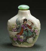 Chinese Beauty Porcelain Snuff Bottle