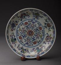 Baba Porcelain Plate Attributed to Qing Dynasty