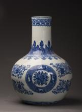 Chinese Blue and White Porcelain Globular Vase