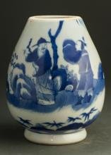 18th C Chinese Blue And White Porcelain Jar