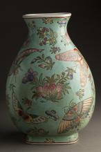 Chinese MinGuo Period Famille Porcelain Vase