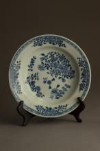 Qing Dynasty Blue And White Porcelain Plate