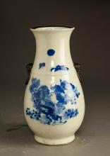 Chinese Qing Period Blue And White Porcelain Vase