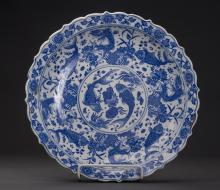 Chinese Blue and White Porcelain Plate QingDynasty