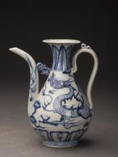Chinese Blue&White Porcelain Teapot Ming Dynasty