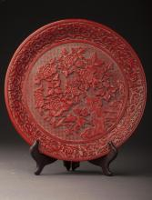 Lacquer Plate Qing Dynasty