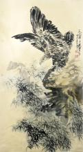 Chinese Eagle Painting Signed HuangZhou(1925-1997)