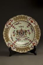Chinese Armorial Export Porcelain Plate