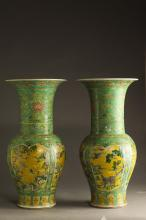 Pair of Large Chinese Kangxi Vases