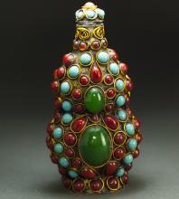 Tibetan Style Snuff Bottle