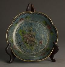 Modern Hand- made Chinese Enamel Porcelain Charger