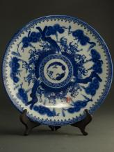 18thC Chinese Blue And White Plate