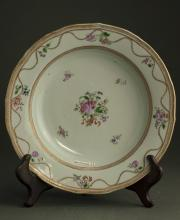 Chinese Qing Dynasty Famille Plate
