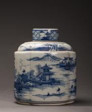 Irregular Chinese Blue and White Porcelain Jar