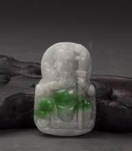 Jadeite Guanyu Pendant