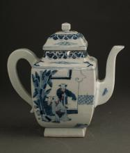 Chinese Qing Dynasty Blue And White Tea Pot