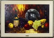 Western Still Life Oil Painting Signed Willense