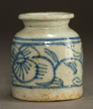 Chinese Qing Dynasty Blue and White Brush Wash