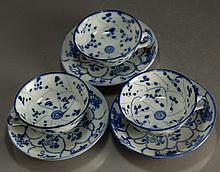 Three Republic Period Blue and White Tea Sets