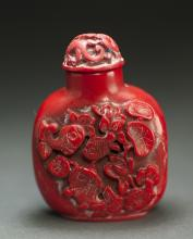 Chinese Red Colour Snuff Bottle