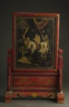 Chinese Qing Dynasty Table Screen
