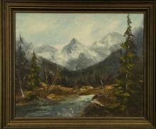 Western Oil Painting Framed