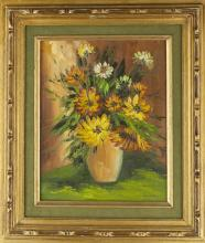Western Oil Painting In Old Frame with Signature