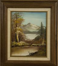 Western Oil Painting Framed with Signature