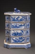 Blue and White Porcelain Container