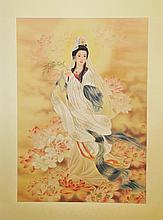 Namo Bodhisattva Silk Painting Li Zuoxia 1963