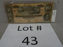 Confederate $10 Bill