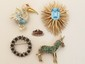 Lot of Costume Jewelry Pins & Brooches