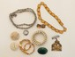 Lot of Victorian-1940's Costume Jewelry & Pins
