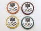 4 German 1936 Olympic Badges
