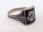 German Nazi WWII SS Tottenkopf Silver Ring