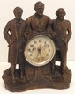 Roosevelt, Washington, and Lincoln Steersmen Clock