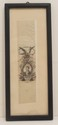 Antique Ribbon Bookmark Depicting Marquis de Lafayette