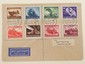 Nazi Luftpost Cover with Set of Stamps