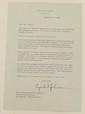 White House letter signed Lyndon Johnson